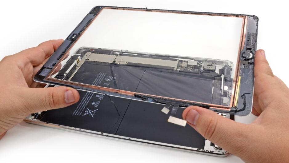 замена стекла на планшете apple